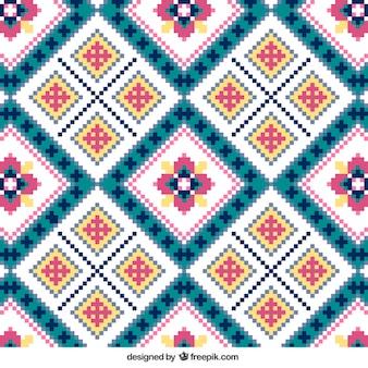 Strick-Muster mit Blumen