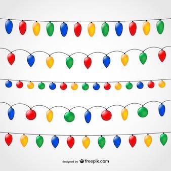 String der Weihnachtsbeleuchtung