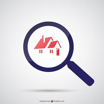 Suche nach Haus-Vektor