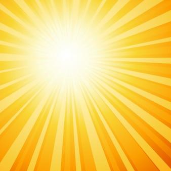Sunburst Hintergrund in Farbe Orange