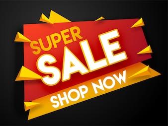 Super Verkauf Banner, oder Verkauf Poster auf schwarzem Hintergrund.