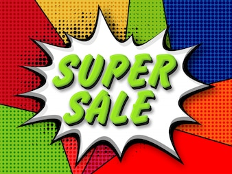 Super Verkauf Pop-Art Banner.