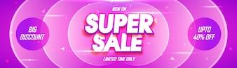 Super Verkauf Social Media Banner Design.