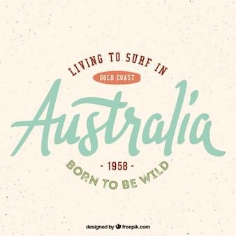 Surfen in Australien Hintergrund