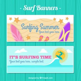 Surfen Zeit Banner