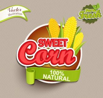 Süßes Mais-Logo.
