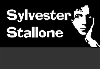 Sylvester stalone, einfache Zeichnung