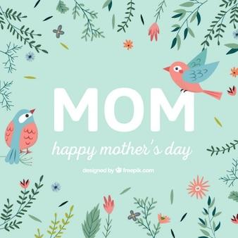 Tag Vektor typografische Karte der Mutter