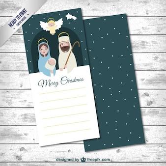 Tarjeta de navidad plana