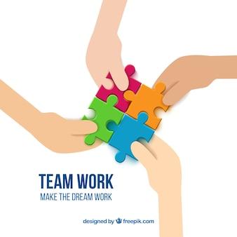 Team von Werkstücken