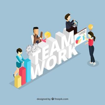 Teamarbeit Hintergrund Design