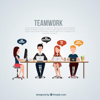 Teamwork-Vorlage