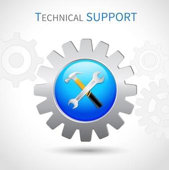 Technisches Support-Symbol