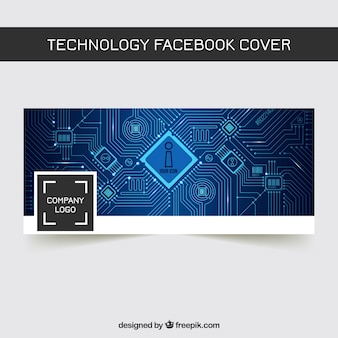 Technologie facebook abstrakte Abdeckung