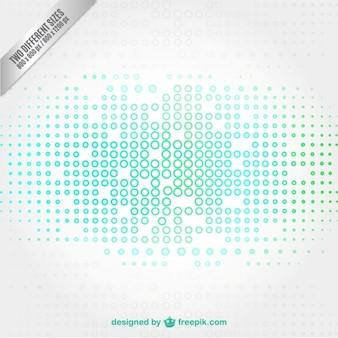 Technologie Hintergrund mit kleinen Kreisen