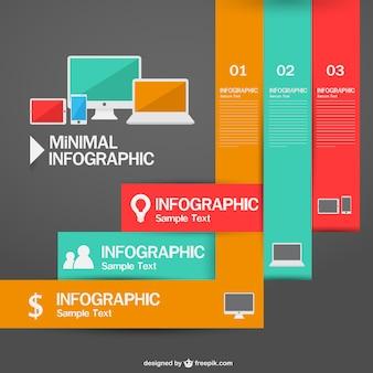 Technologie minimal Infographie mit Etiketten