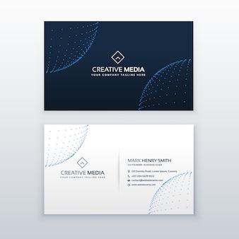 Technologie-Stil Visitenkarte Design-Vorlage