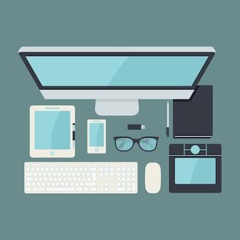 Technologische Design-Elemente