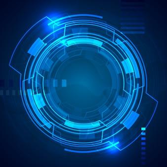 Technologisches Hintergrunddesign