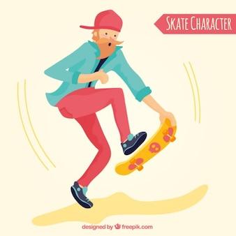 Teenager mit einem Skateboard