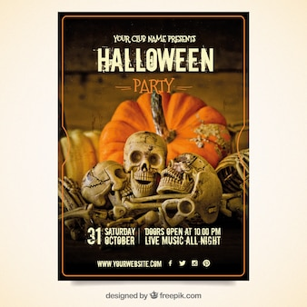 Tenebrous Halloween-Party-Poster