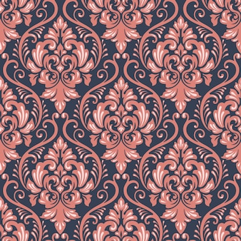 Textile barocke Dekor nahtlose Blumen