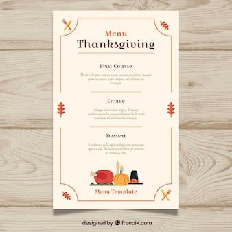 Thanksgiving elegantes Menü