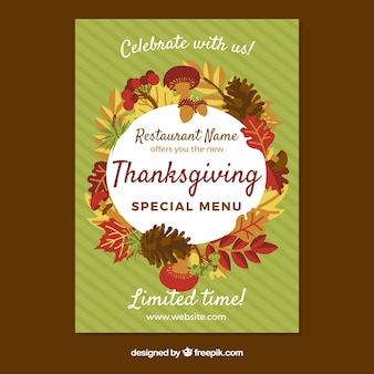 Thanksgiving-Menü Poster