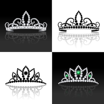 Tiara-Set isoliert