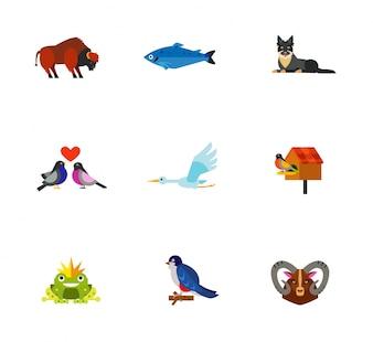 Tier-Ikonen-Sammlung