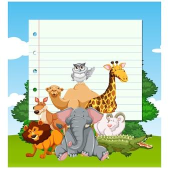 Tiere Hintergrunddesign