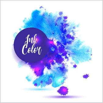 Tintenfarbe in viole Farben