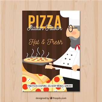 Traditioneller italienischer Pizza-Flyer