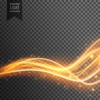 Transparenter Lichteffekt mit goldenem Glitzer