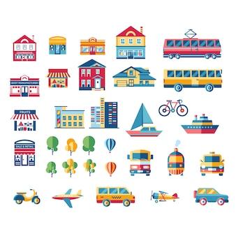 Transport und Gebäudesammlung