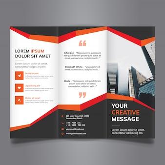 Tri Fold Broschüre mit abstrakten Formen