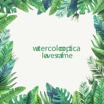 Tropische Blätter Rahmen