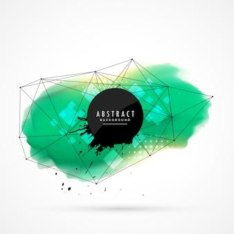 Türkis Aquarell Fleck Design mit Netzwerk Drahtgeflecht