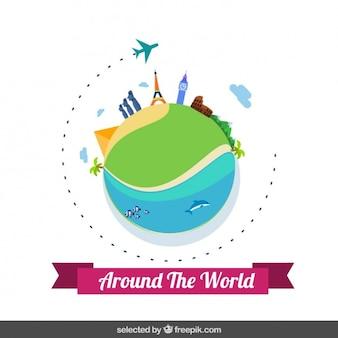 Um die Welt reisen