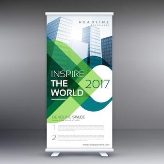Unternehmen Roll-up-Banner-Präsentation