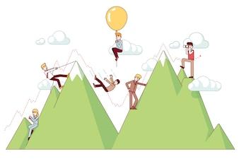 Ups und Downs auf einem Unternehmerweg