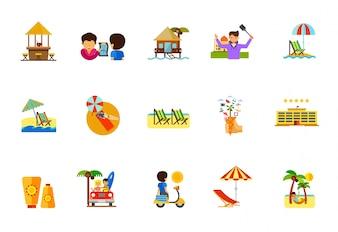 Urlaub Icon Set