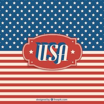 USA-Flagge Vintage-Label