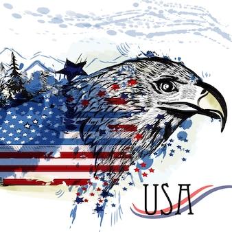 USA Hintergrund Design