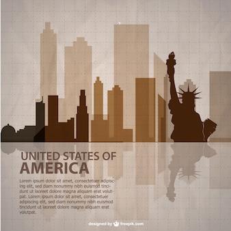 USA Vektor-Vorlage