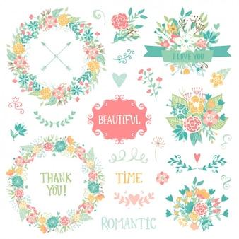 Valentinstag-Elemente-Sammlung