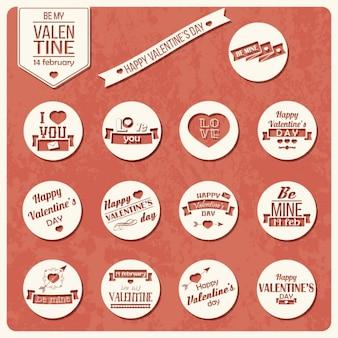 Valentinstag-Etiketten Sammlung