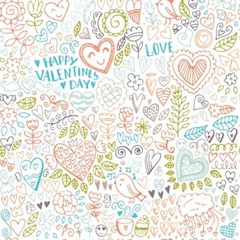 Valentinstag Muster Design