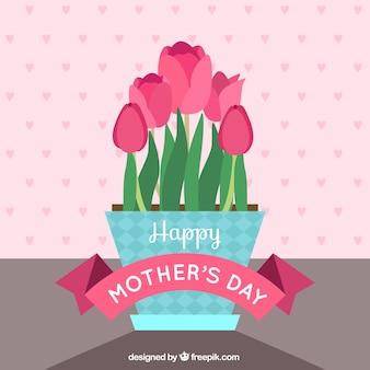 Vase für Tag Hintergrund Mutter
