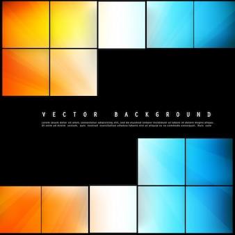 Vector abstrakte geometrische Form aus Farbwürfeln